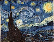 """Starry Night by Vincent Van Gogh, 8""""x10"""", Giclee Canvas Print"""
