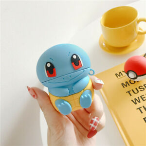Cute-Cartoon-pokemon-Squirtle-Earphone-bag-Cover-for-apple-Airpods-Charging-Case