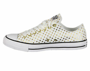 44163204311b2a CONVERSE ALL STAR CHUCK TAYLOR OX WHITE GOLD MEN 8   WOMEN 10 SHOES ...