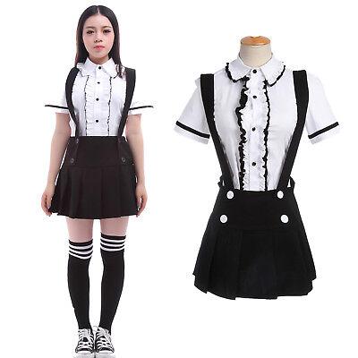 Japanese JK School Sailor Uniform Dress Cosplay Costume Lolita Shirt Skirt Sets