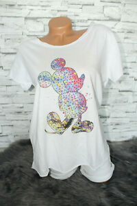 Italy-New-Collection-T-Shirt-weiss-bunt-Mickey-Mouse-Gr-36-38-40-42-blogger