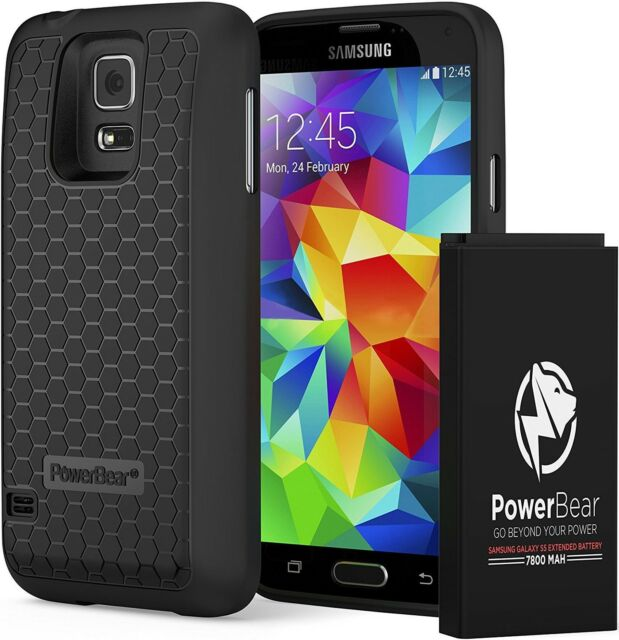 timeless design df99b 80dc4 Charger Cases PowerBear Samsung Galaxy S5 Extended Battery 7800mah Back  Cover