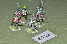 25mm napoleonic infantry 6 figures (8721) metal painted