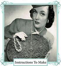How to make a vintage 1940s wartime chic,stylish handbag-Crochet Pattern
