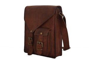 9x11-034-Handmade-Real-Brown-Leather-Satchel-Tab-iPad-Crossbody-Messenger-Bag