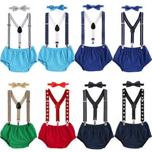 Groovy 1St Birthday Boy Cake Smash Outfit Bow Tie Bloomers Suspenders Personalised Birthday Cards Vishlily Jamesorg