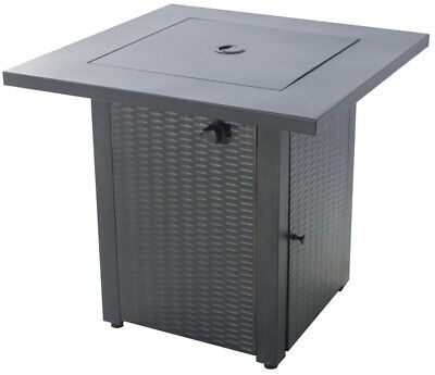 Hampton Bay Gas Fire Pit Burner Metal Table Lid Adjustable ...