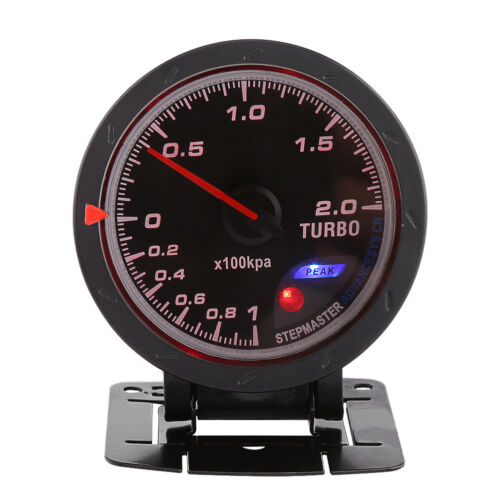Universal 12V 60mm Car Truck LED Turbo Boost Meter Gauge 0-200 Kpa w//Bracket New