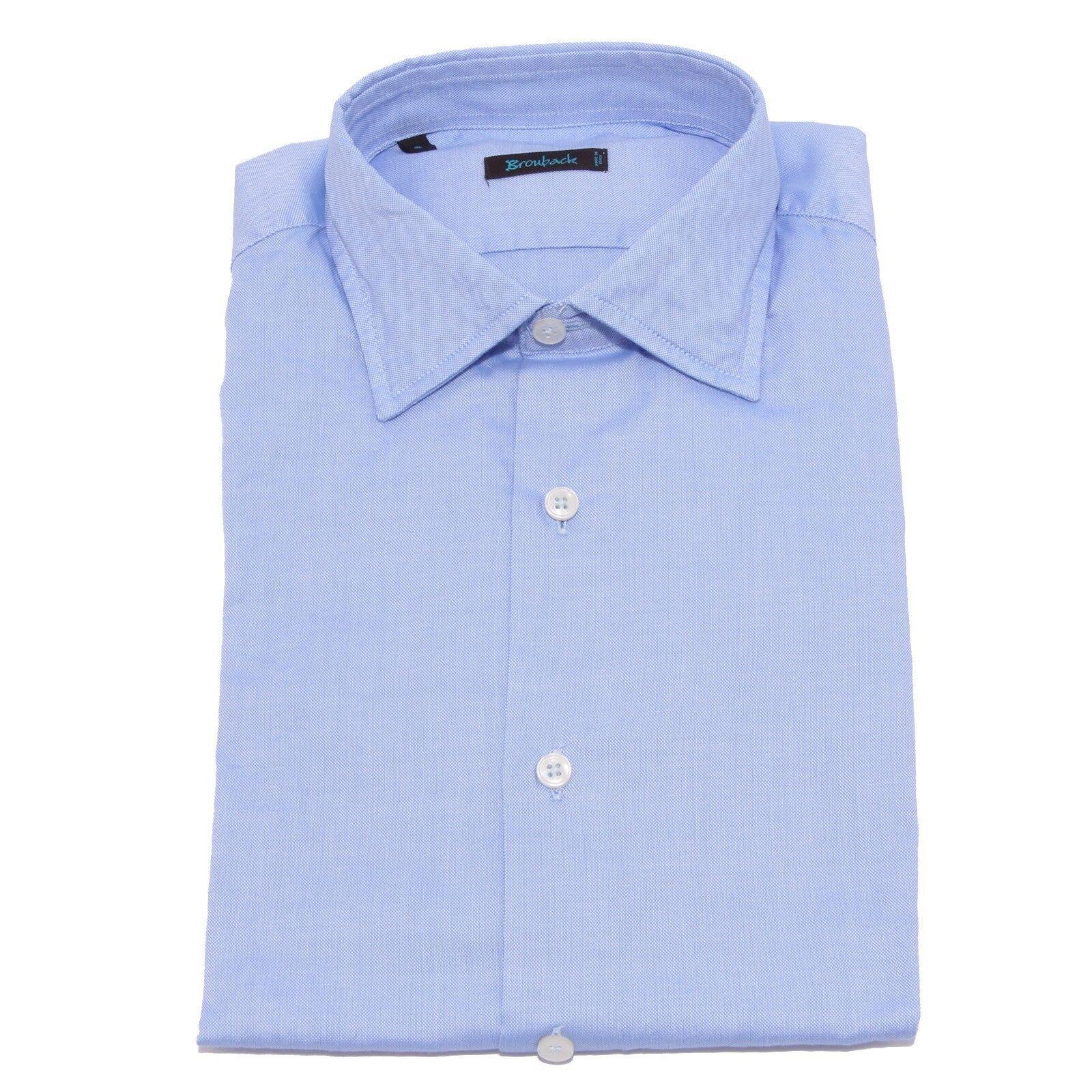 4276V camicia uomo BROUBACK WASHED blu shirt men