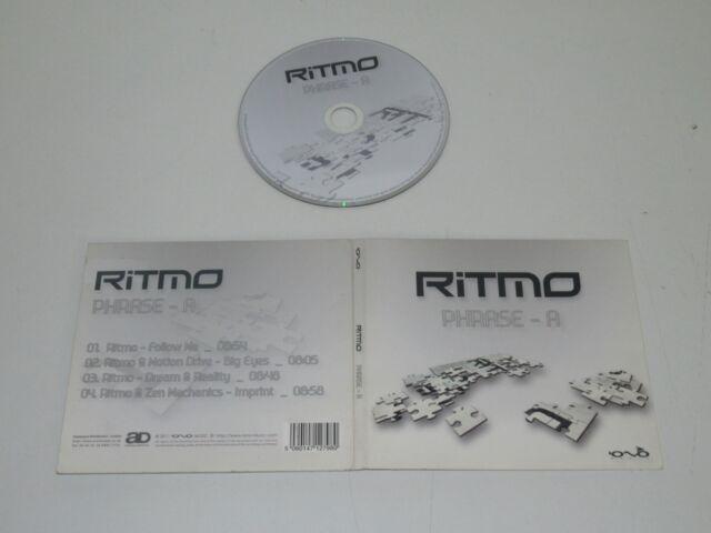 Ritmo/Phrase-A ( Iono Music 5060147127980) CD Album Digipak