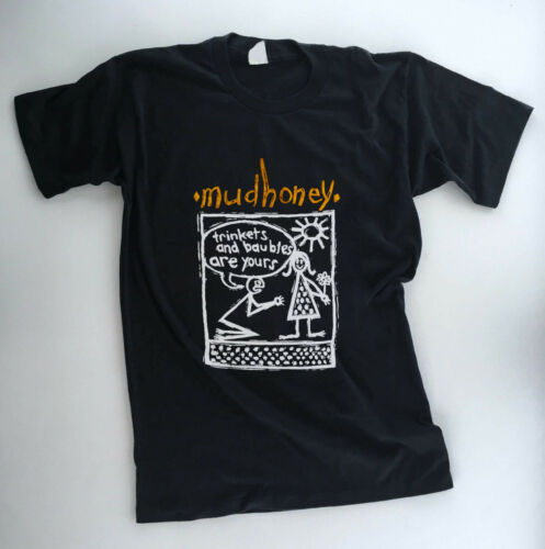 3XL trinkets yours T shirt REPRINT untru vintage MUDHONEY 1980 80/'s USA Size S