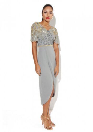 Prom Size Us0 Party Embellished Uk4 Midi Reena Eur32 Lounge Dress Virgo's XwZqSgX