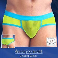 Svenjoyment Swell Mini Hipster Pants Elastisch Transparent Hautgenau Grün in L