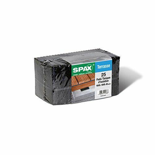 SPAX Terrassenpads Pads 100 x 100 x 8 mm schwarz aus Gummigranulat für den …