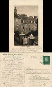 Ansichtskarte-Borbeck-Essen-Ruhr-Schloss-Eingang-1929-Passepartout