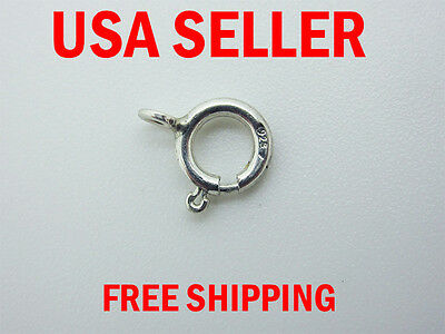 2 pcs of 7 mm Sterling Silver Spring Ring
