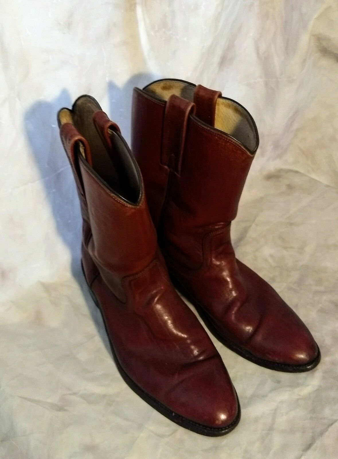 Ariat Brown Leather Cowboy Stockman Square Toe Buckaroo Cowboy Leather Boots Size 10 EE - 34824 7ffb10