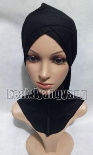 Musulmans coton Inner Hijab Caps islamique underscarf Chapeaux Ninja Arabe coiffure Caps