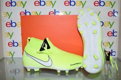 Nike JR Phantom Vision Elite DF FG Soccer Cleats AO3289 717 Volt White Size 4 | eBay