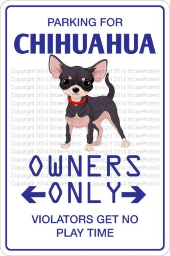 """Metal Sign Parking For Chihuahua 8"""" x 12"""" Aluminum NS 433"""