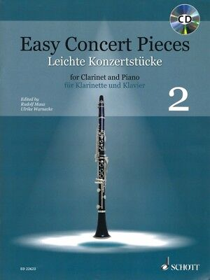 Easy Concert Pieces Book 2 22 Pieces from 4 Centuries Clarinet Piano 049045759