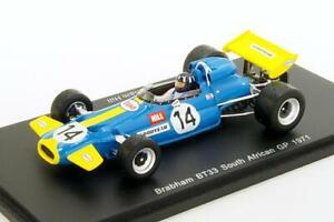 Brabham Bt33 Gp Afrique du Sud 1971 G-hill 1/43 S4338 Modèle d'étincelle