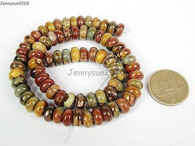 Natural Picasso Jasper Gemstone Rondelle Beads 16'' 4mm x 6mm 5mmx 8mm 6mmx 10mm