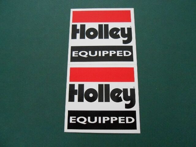 HOLLEY EQUIPPED DECAL STICKER CARB CARBURETOR MANIFOLDS RAT ROD GASSER SIX PACK