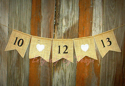 Custom Save the Date ~ Wedding Banner/Garland ~ Rustic Country Western Handmade