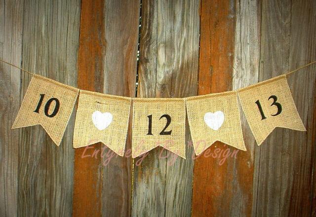 Custom Save the Date ~ Wedding Banner/Garland ~ Rustic Country Western Handmade