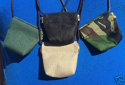 rifle pellets holder Bisley Leather airgun pellet pouch with lanyard