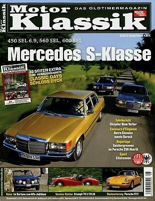 Motor Klassik 2010 8/10 Porsche 912 Kaiser Jeepster Mercedes 450 Sel 6.9 600 Tr3 Husten Heilen Und Auswurf Erleichtern Und Heiserkeit Lindern Automobilia Zeitschriften