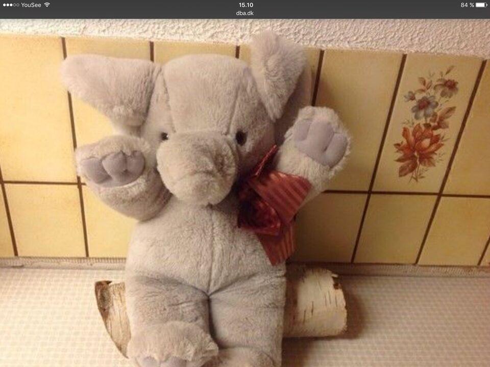 Stor Elefant Måler 40 cm.Bamse Dukke Plys elefant, Plush