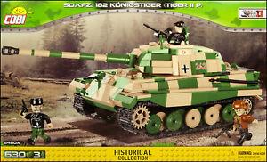 COBI-Tiger-II-Konigstiger-Porsche-2480-A-630-el-WWII-German-heavy-tank