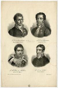 Antique-Master-Print-PORTRAIT-CHATEAUBRIAND-PEYRONNET-VILLELE-Lecler-1823