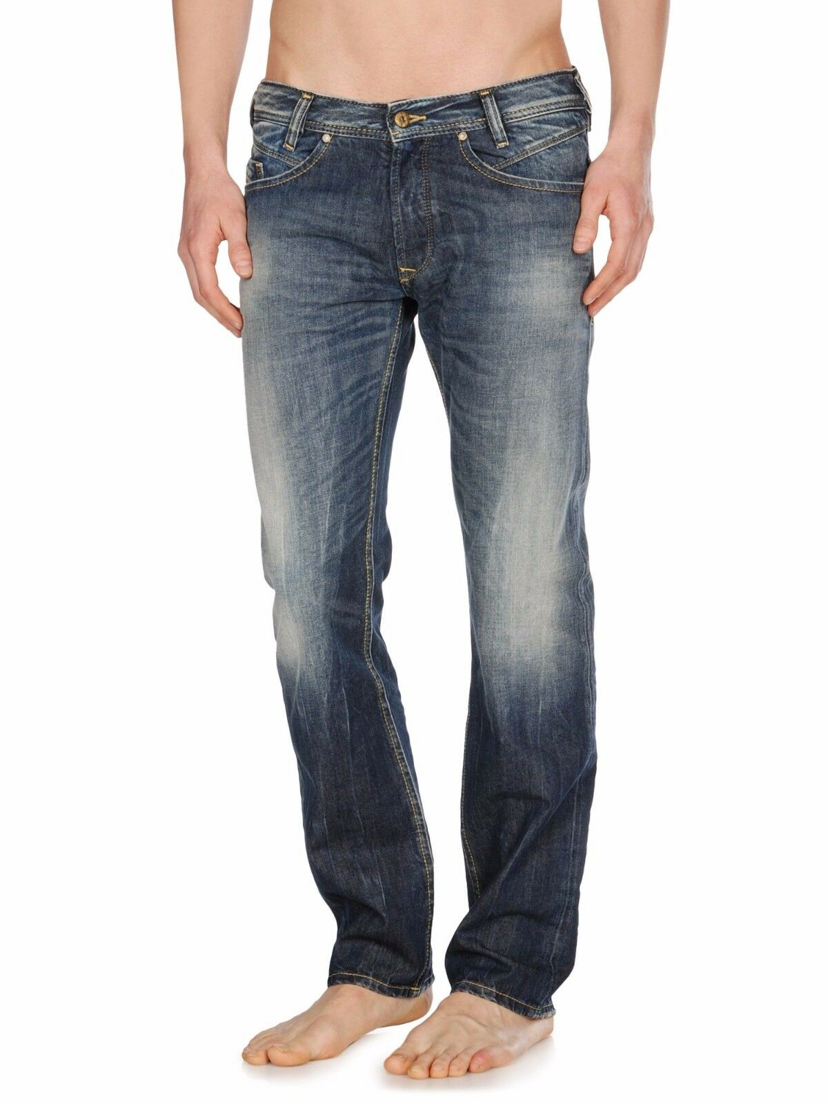 66b49be1 DIESEL Men's IAKOP 0814a Faded Slim-tapered Jeans Size W28 L32 /gsp ...
