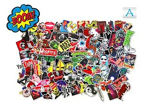 100-Random-Skateboard-Stickers-Vinyl-Laptop-Luggage-Decals-Dope-Sticker-Lot-Mix