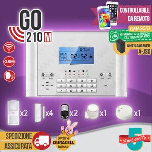 KIT ANTIFURTO CASA ALLARME COMBINATORE GSM / APP WIRELESS GO210M ANTI JAMMER