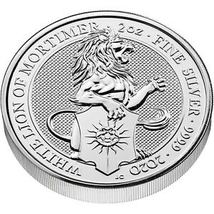 Grossbritannien-5-Pfund-2020-The-White-Lion-of-Mortimer-2-oz-Silver-Coin