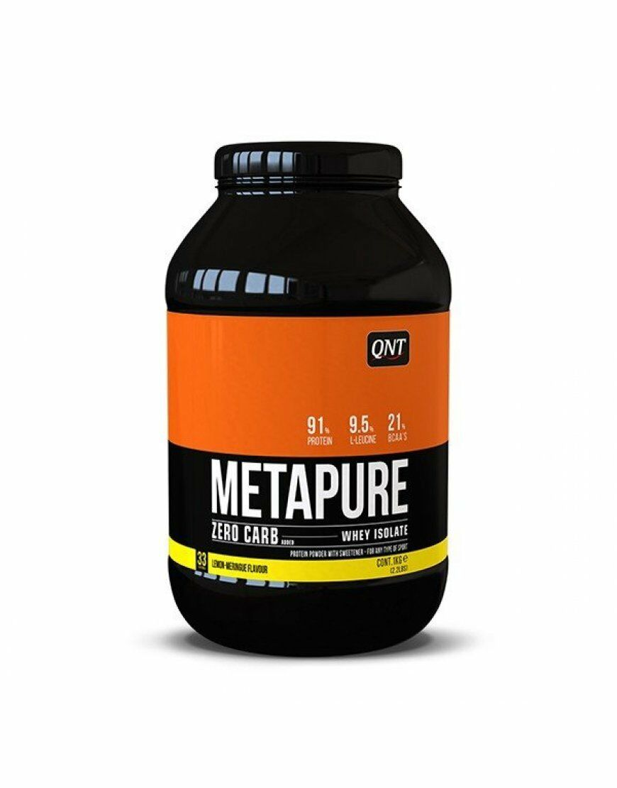 QNT Zero Carb Metapure Fat Free Whey Protein Isolate Powder (Lemon Meringue) 2kg