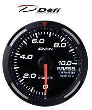 Defi Racer 52mm Car Oil Pressure Gauge - White - JDM Style Stepper Motor
