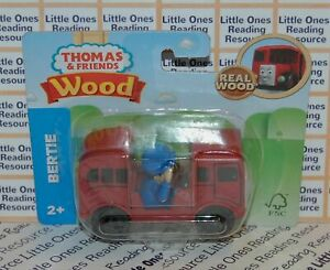 Thomas-Friends-Wood-Wooden-BERTIE-Train-FULLY-PAINTED-Fisher-Price-GGG45