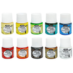 Pebeo-Vitrail-Opale-Stained-Glass-Paint-45ml-10-OPAQUE-Colours