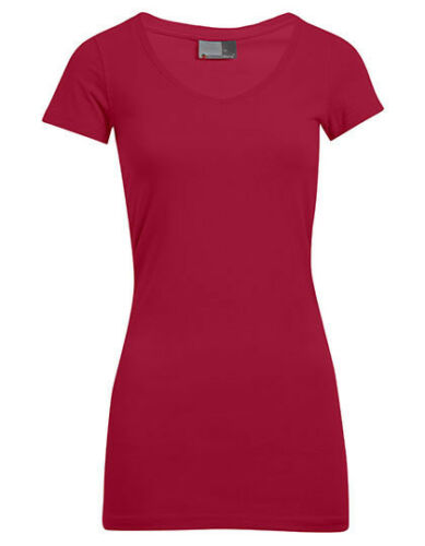 Promodoro damen v-neck New Figurbetontes Ladies Longshirt mit V-Ausschnitt