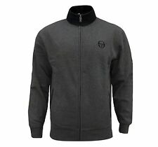 SERGIO TACCHINI MEN'S CHARCOAL GREY BLACK TRACKSUIT TOP TRACK COAT JACKET M / L