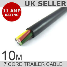 10M Length of 7 Core Trailer-Caravan-LED Lights Wire Cable - Rated to 11 AMPS