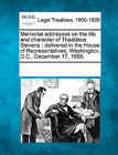 Memorial Addresses on the Life and Character of Thaddeus Stevens: Delivered in the House of Representatives, Washington, D.C., December 17, 1868. by Gale, Making of Modern Law (Paperback / softback, 2011)