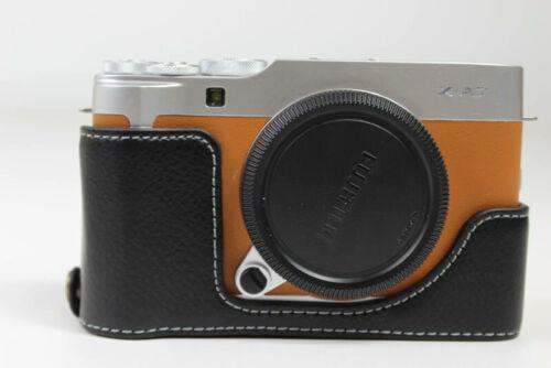 Genuine Real Leather Half Camera Case Grip for Fujifilm Fuji X-A7 XA7