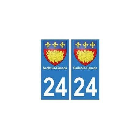 24 Sarlat-la-Canéda autocollant plaque blason armoiries stickers département arr