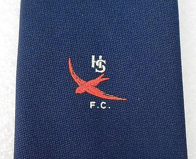 HSFC sports tie FOOTBALL Heybridge Swifts Red bird emblem Navy blue Vintage